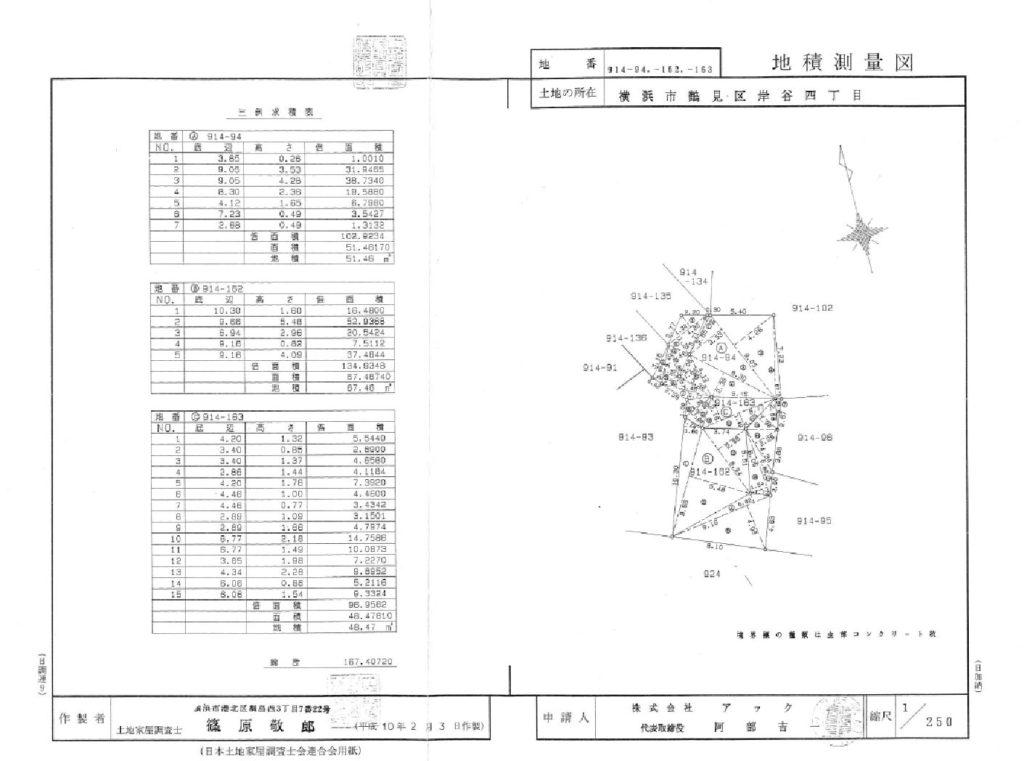 地籍測量図と建築確認図面 | USQ...